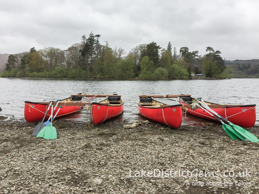 Canoes on Derwentwater