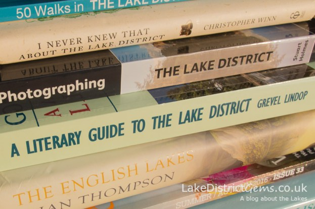 A stack of Lake District books