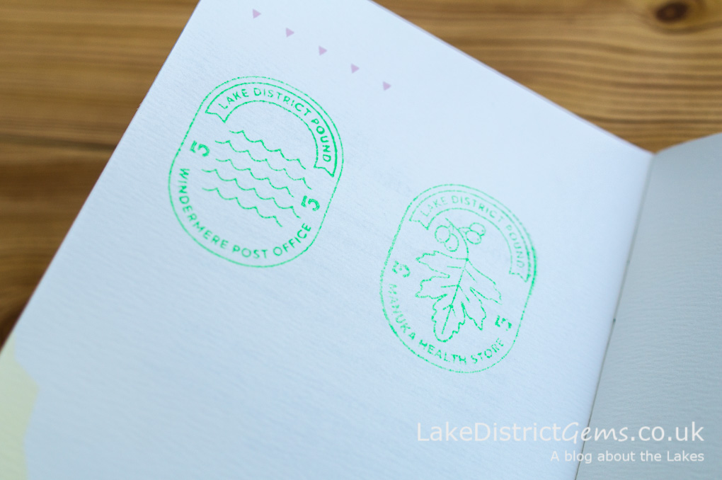Stamps for Lake District passport