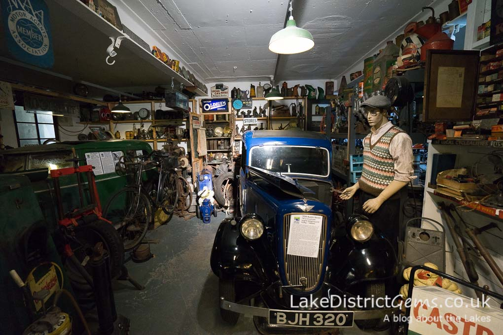 A workshop at the Lakeland Motor Museum