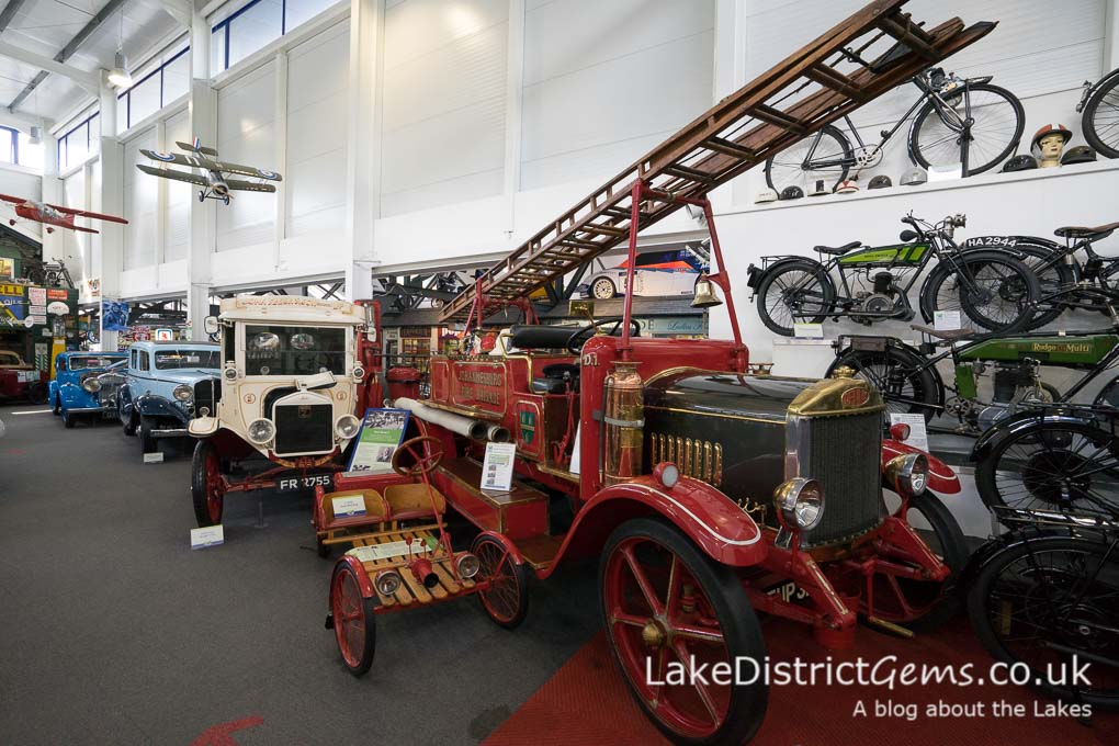 Vintage fire engine at the Lakeland Motor Museum