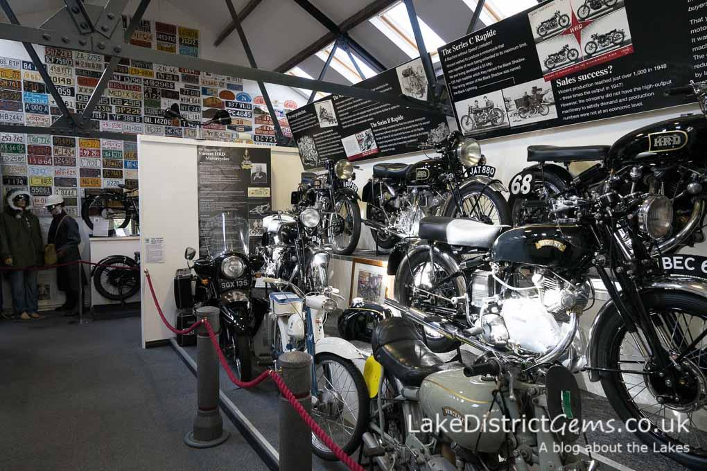 Motorcycles at the Lakeland Motor Museum