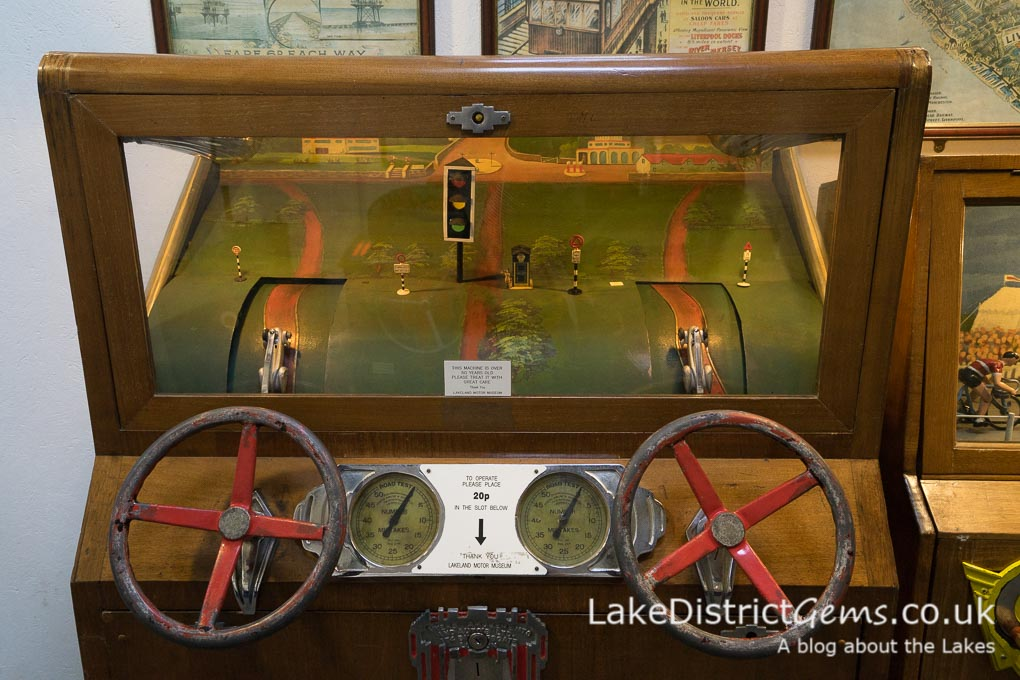 A coin slot game at the Lakeland Motor Museum